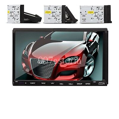"""Double 2 Din 7"""" In Dash Touch Screen Car Stereo DVD CD VCD MP3 Player Radio"""