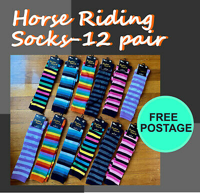 Comfort~12 Pairs~Horse Riding Dressage Long Socks Only $47.99