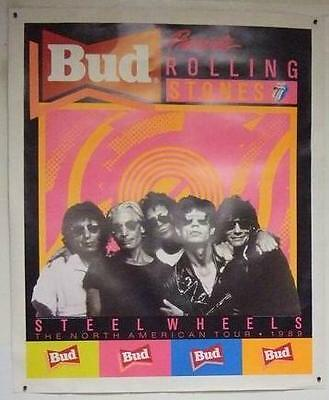 Manifesto Poster Bud Rolling Stones The North America Tour 1989