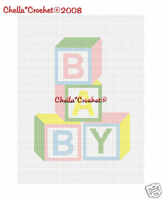 #2 Baby Blocks Pastel Colors Afghan Crochet Pattern