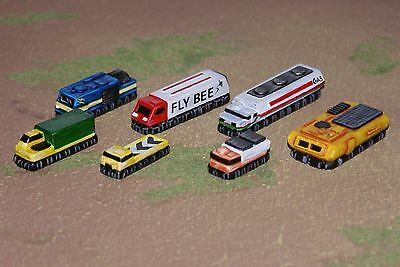 MT30 Dirtside Civilian hover vehicle pack, 6mm 1/300 scale resin vehicles X7