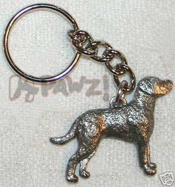 CHESAPEAKE BAY RETRIEVER Chessie Pewter Keychain Key Chain Ring