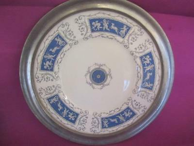 F4 Coalport Revelry Cupid Theme Serving Plate with Metal Frame