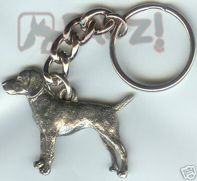 VIZSLA Dog Fine Pewter Keychain Key Chain Ring Fob NEW
