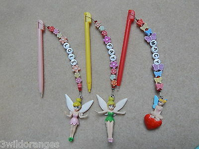Personalised Disney Tinkerbell DS Lite DSI Pen Stylus with Charm