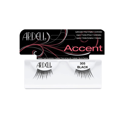 ARDELL 100% HUMAN HAIR FALSE EYELASHES ACCENT PETITE HALF LASHES 305 dense thick