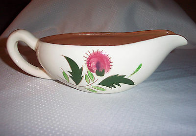 Thistle Pattern by Stangl China Pink Thistle Pottery Gravy Boat