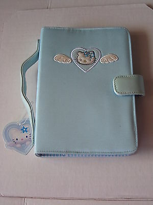 Sanrio Hello Kitty Organizer Blue Angel Stripe Collectible 1976, 2001  NEW