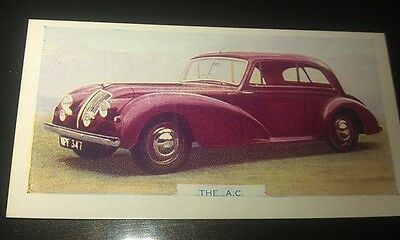 1949 AC SALOON  Orig  Colour Swap Card UK
