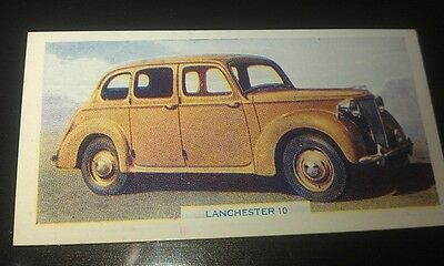 1949 LANCHESTER 10  Orig  Colour Swap Card UK