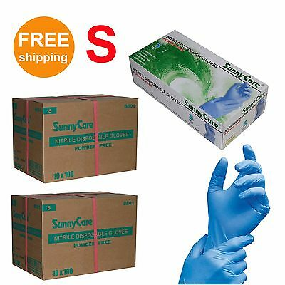SunnyCare 2000 Nitrile Disposable Gloves Powder Free (Vinyl Free) Size: Small