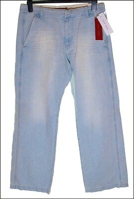 """Bnwt Men's Fcuk French Connection Jeans W28"""" L33"""" Rrp RP£65 Hydro Blue New"""