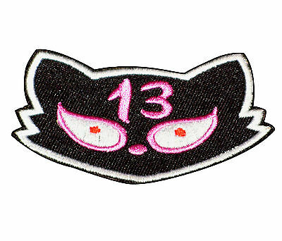 Patch Ecusson CHAT 13 lucky Cat Rock'n'Roll Rockabilly Psychobilly Punk Rock Ska