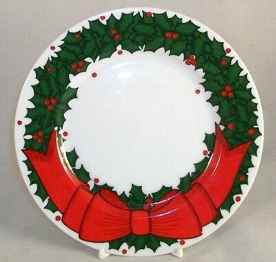 Fitz & Floyd HOLLY WREATH Salad Plate GREAT CONDITION