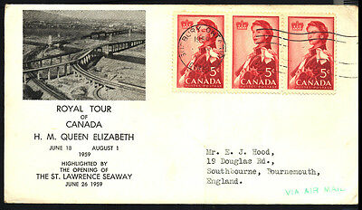 1959 Canada ROYAL VISIT SURBURY Cover 162