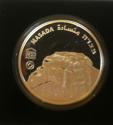 Israel~2 Nis~2009 Masada Proof Silver Coin~By The Dead Sea~Holy Land~