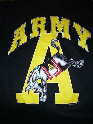 """VTG 1991 Army """"KICK ASS"""" T-shirt by Saturdays Heros DEADSTOCK Small"""