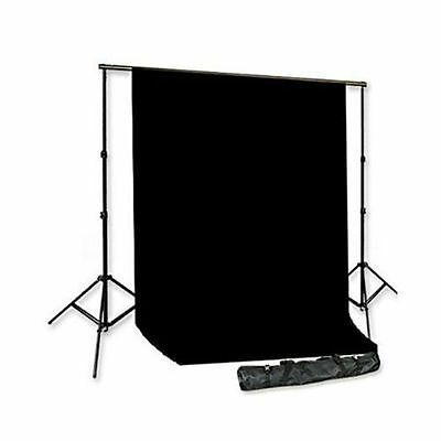 Cowboystudio Photography Video Supporting Stands & 6 x 9ft Black Muslin Backdrop