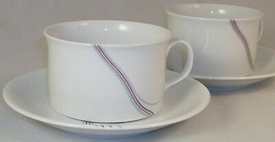 Rorstrand RAINBOW 2 Cup & Saucer Sets GREAT CONDITION
