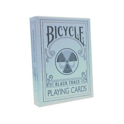 Rare Bicycle BLACK TRACE Deck Playing Cards Magic Outline skull nuclear new