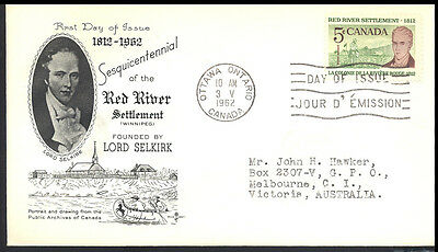 1962 Canada RED RIVER Cover 162