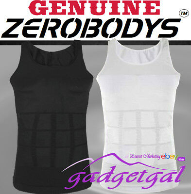 MENS ZEROBODYS Slimming Compression Slimmer Vest Body Shaper Belly Tummy Trimmer