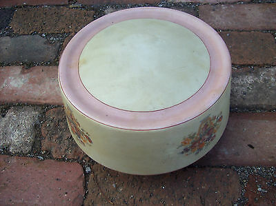 """Pink Painted vase w/ flowers Shade 4"""" mount (L 566)"""