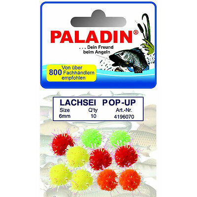 Forellenschlepper, PALADIN Lachsei Pop-Up farbig 10 Stc