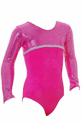 Canberra Long Sleeved Girls / Ladies / Gym / Dance / Gymnastic / Leotard   Pink