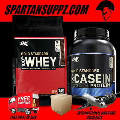 Optimum Nutrition Day Night Stack 10Lb Whey 4Lb 100% Casein Gold Standard