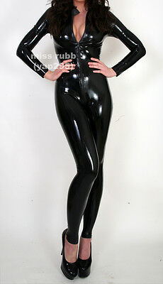 Pure by M and V rubber catsuit, zip front, latex gummi