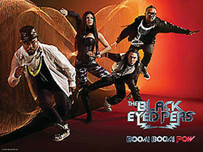 """BLACK EYED PEAS """"BOOM BOOM POW"""" Fergie Fabric Poster 30""""X40"""" Poster Flag NEW"""