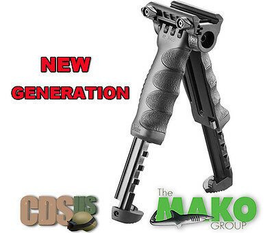 MAKO FAB Rifle Tactical Vertical Foregrip Grip Adjustable Bipod Gen2 T-PODG2-QR
