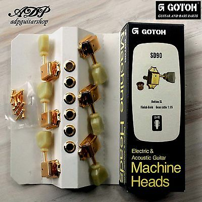 Mecaniques Vintage Gotoh Tulipes Keystone LP SG 3x3 Tuning Pegs SD90-GG Gold