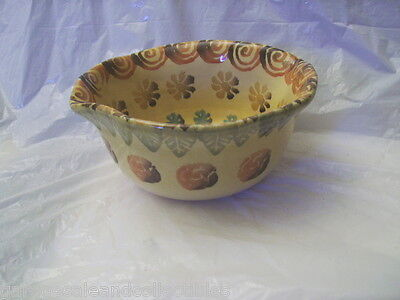 Handmade Hand Painted Ceramic Bowl UNIQUE Italy Vintage Collectible