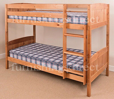 Contemporary Antique Pine Bunk Bed Splits Into 2 Single Beds