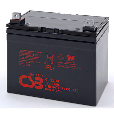 CSB GP 12340 Rechargeable Sealed Lead Acid Battery 12V 34Ah GP12340 SLA