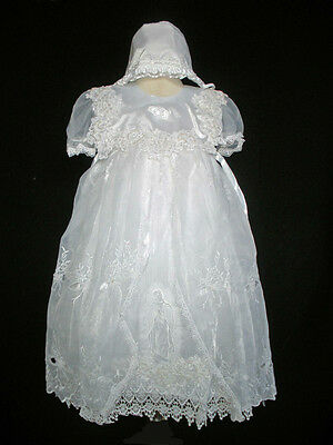 Baby Girl & Toddler Christening Baptism formal Dress Gown size 3 4 (18M - 36M)