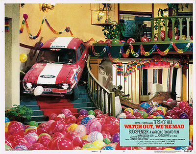 Watch Out We're Mad Ford Escort Goes Down Staircase Original Lobby Card