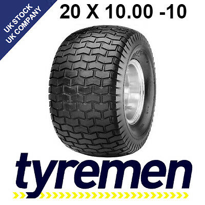 20 x 10.00 - 10 LAWNMOWER , GOLF BUGGY -  TURF TYRES - GRASS TYRES