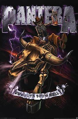 """PANTERA """"COWBOYS FROM HELL"""" Fabric Poster Oversized 30""""X40"""" Poster Flag NEW"""