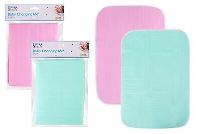 BABY CHANGING TRAVEL MAT 67cm x 47cm HOME & AWAY USE - FOLDING - Blue & Pink