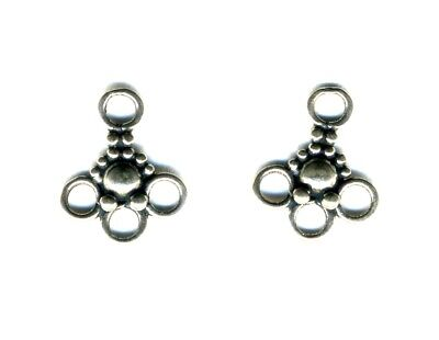 2 Sterling Silver small detailed CHANDELIER connectors, 12mm x 14mm, 2pc