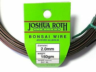 Joshua Roth Bonsai Training Wire 2.0 mm  150 gm Coil Anodized Alum