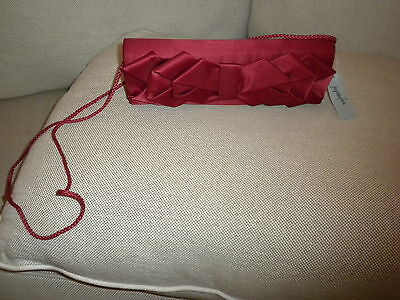 6606969a53a09 Womens Red Satin Evening Bag New Tag Attached By Jacqueline Ferrar Fabulous