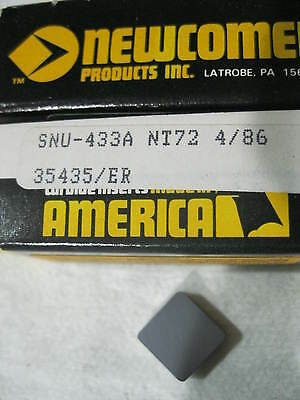 CARBIDE INSERTS. NEWCOMER. 10 PCS.  SNU 433A  GRADE NT72   NEW. Now just $4 each