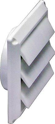 """NEW LAMBRO 2676W WHITE PLASTIC 4"""" DRYER VENT REPLACEMENT HOOD LOUVERED SALE"""