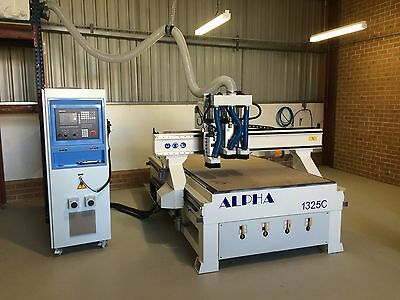 CNC router 1.3mx2.5m with triple spindle, Vacuum Table and Dust collector