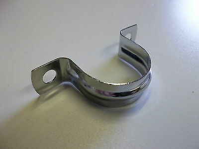 Chrome Saddle Pipe Clips 15mm & 22mm (various quantities available)