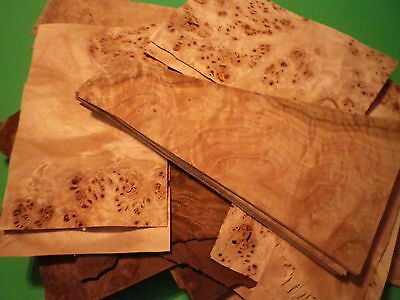 wood veneer mixed burl small pieces for art and crafts (50+ odd size pcs)